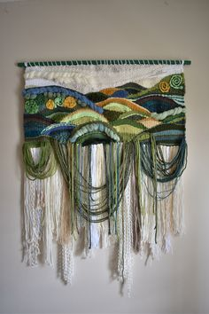 Handmade woven tapestry made for Melissa Tapestry Weaving, Loom Weaving, Weaving Wall Hanging, Rope Crafts, Gifts For An Artist, Yarn Thread, Craft Day, Textile Fabrics, Textile Artists