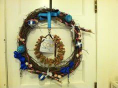 """""""I Heart Dogs"""" Wreath created by Patty Fuller Bloechl, Citizens for an Offleash Muscatine"""