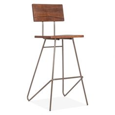 Cult Living Transit Hocker Mit Holzsitz - Metall 75cm - Cult Living von Cult Furniture UK