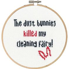 Dimensions® Dust Bunnies Counted Cross-Stitch Kit - Herrschners #subversive #humor