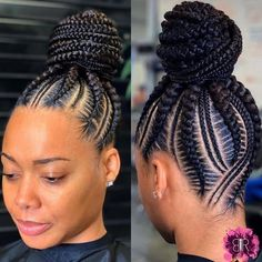 Beautiful braids if you want to see more click in the link and watch all my videos 😍💞 Braided Cornrow Hairstyles, Feed In Braids Hairstyles, Braids Hairstyles Pictures, Braided Hairstyles For Black Women, African Hairstyles, Feed In Braids Ponytail, Black Hair Braid Hairstyles, Cornrow Ponytail, Box Braids Updo