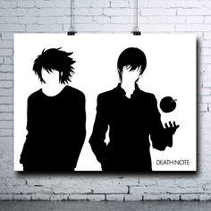 Death Note - Death Note Poster - Death Note Printables - Kira - Lawliet - L - Death Note Print - Ryuk - Otaku - Death Note L Poster - Light - pinned by pin4etsy.com