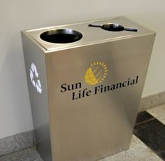 Boxina Double Stream in full stainless steel #recyclingbin
