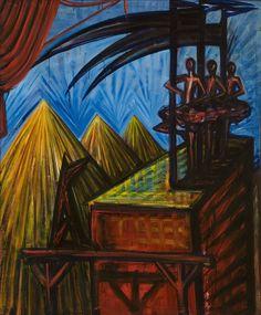El Kazovszkij: Cím nélkül (Kaszás párkák) / Untitled ( Fates With Sycthes) - é.n. /undated - 121x90,5 cm - olaj, fatábla / oil on woodpanel Artist Art, Painters, Art History, Artists, Inspiration, Biblical Inspiration, Artist, Inspirational, Inhalation