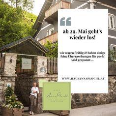 ab 29. Mai dürfen wir wieder öffnen! wir freuen uns schon sehr auf euch ❤️ die lange Wartezeit haben wir natürlich genutzt, um euch ein paar feine Überraschungen vorzubereiten! 🤩 Wir sind schon sehr gespannt, was ihr dazu sagt 🤗 😘 keine Stornogebühren und Preisstabilität! 👉 Wir freuen uns auf euch 😘 🤩 Urlaub in Österreich, immer eine Reise wert! 😘😘 Zimmerbuchungen bitte direkt unter: www.hausannaplochl.at 😘 💚 . . Bed & Breakfast Bad Aussee. ❤️ stay tuned & subscribe our… Bed & Breakfast, Mai, You're Welcome, Voyage