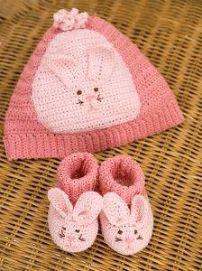 Bunny Booties - free crochet baby booties pattern! #crochet