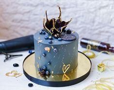 22nd Birthday Cakes, Birthday Cake For Him, Elegant Birthday Cakes, Beautiful Birthday Cakes, Elegant Cakes, Cupcake Cake Designs, Cupcake Cakes, Cupcakes, Cake Design For Men