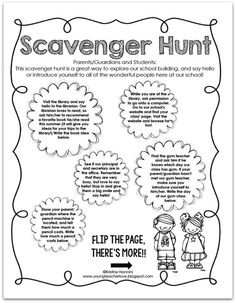 FREE Open House or Meet the Teacher Night Scavenger Hunt for an entire school! FREE by Young Teacher Love by Kristine Nannini Classroom Procedures, School Classroom, Classroom Ideas, Classroom Freebies, Classroom Resources, Classroom Management, Beginning Of The School Year, First Day Of School, Elementary Teacher