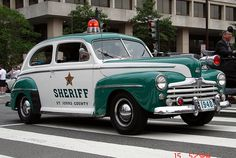 Vintage Sheriff's car