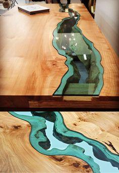 20 Of The Most Unique Desk and Table Designs Ever - 1 River Desk 1