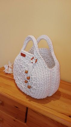 Hand made crochet bag ecru colored macaron bag handbag image 1 Bag Crochet, Crochet Art, Crochet Handbags, Crochet Purses, Crochet Gifts, Crochet Bag Tutorials, Crochet Purse Patterns, Crochet Stitches, Handbag Storage