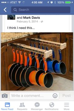 So, I saw this pull out pots and pans rack on facebook, and immediately wanted…