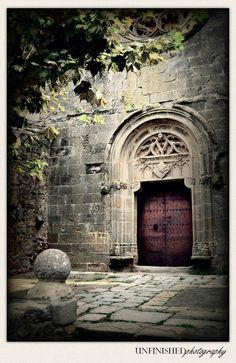 doorway, urban photography, art prints, castles, castl door, pubol, castle doors, spain photographi, famous castl