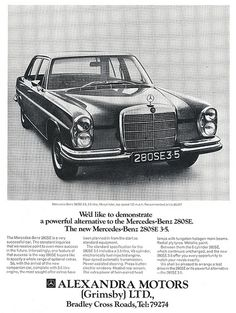 Mercedes-Benz 280se Ad 1971