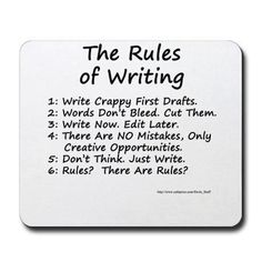 Writing rules.