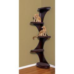 Amazon.com: The Refined Feline Catemporary Cat Corner Tower Climber Espresso: Kitchen & Dining