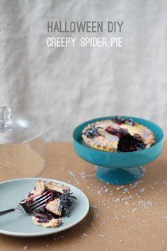 halloween diy: how to make a creepy spider pie