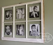 Love the shabby chicness of this! Antique window picture frame