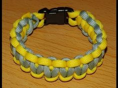 Anleitung zweifarbiges Paracord Armband *D* - YouTube