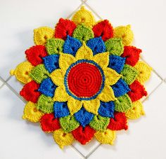 Beautiful crochet potholder!