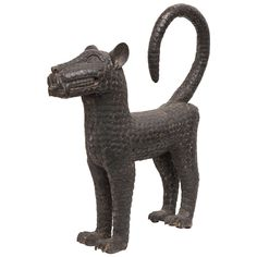 Bronze Leopard Sculpture by the Benin Tribe | From a unique collection of antique and modern sculptures at https://www.1stdibs.com/furniture/decorative-objects/sculptures/