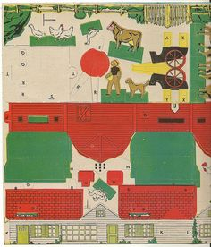 vintage paper farm toy | Flickr - Photo Sharing!