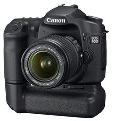 Canon EOS-40D w/ Battery Grip - Was my primary camera for a couple years.  Still use it occasionally as a backup camera to avoid lens changes.