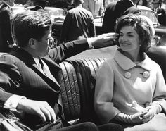 Jackie O's Favorite Photo Of Her And JFK  The President and First Lady escorted President Habib Bourguiba of Tunisia to Blair House, May 3 1961. On the ride back to the White House, the President brushed his wife's hair out of her eyes. She later told the photographer that it was her favorite picture of herself with her husband