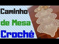 CAMINHO DE MESA DE CROCHÊ - Passo a Passo - YouTube Crochet Table Mat, Crochet Videos, Table Toppers, Crochet Designs, Crochet Top, Crochet Necklace, Knitting, U2, Merry Christmas