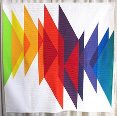 Color Study (Triangles) by Erika Mulvenna.  Photo by The Plaid Portico.  QuiltCon 2016 show.