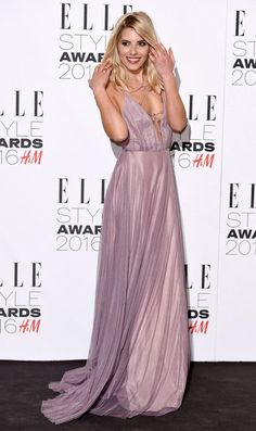 Mollie King looks radiant in plunging purple gown as she attends ...