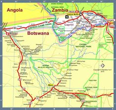 Map of Namibia Africa Road Map E Version 2010 4x4, National Parks, Wildlife, Africa, Africa Travel