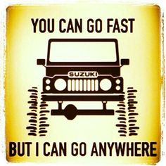Suzuki jepp Offroad, Samurai Quotes, Mini 4x4, Jimny Sierra, Adventure Car, Grand Vitara, Off Road Camper, Suzuki Jimny, Nissan Patrol
