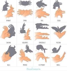 How to make shadow puppets with your hands - might be a fun treatment idea for pediatric burns!