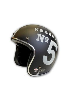 KOBENHAVEN NO. 5 HELMET | Bell + Badcock | Bell Custom 500 open face helmet modified with Badcock signature graphics. Meets DOT safety standards.