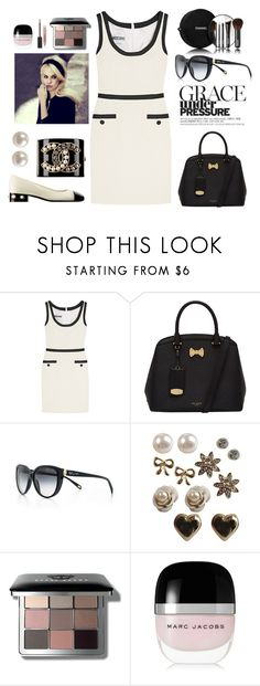 """""""Moschino Dress"""" by nicole231 ❤ liked on Polyvore featuring Moschino, Ted Baker, Tiffany & Co., Chanel, Forever 21, Duffy, Bobbi Brown Cosmetics, Marc Jacobs, Burberry and Tiffany"""