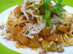 fischis cooking and more: spaghetti mit kürbis und walnüssen