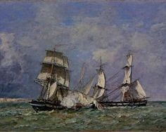 The Capture of the 'Petit Rodeur' - Eugene Boudin