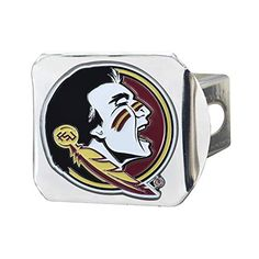 Florida State University Black Hitch Cover with Color