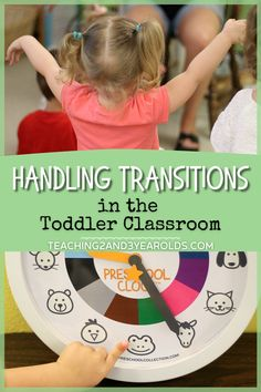 Handling transitions with toddlers can be tough, unless you have a plan. Here are my favorite tips that have been learned during my 20 years of teaching! #transitions #toddlers #age2 #classroom #tips #teachers #earlychildhood #education #routine #teaching2and3yearolds Activities For 2 Year Olds, Hands On Activities, Infant Activities, Preschool Activities, Toddler Classroom, Toddler Behavior, Preschool Classroom, Classroom Decor, Toddler Clock