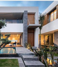 modern homes mansions rich pools condos architecture design style aesthetics millionaire biggest houses beach homes stunning design elegant projects. Villa Design, Modern House Design, Modern Interior Design, Luxury Interior, Future House, Architecture Design, Design Exterior, Facade House, Elegant Homes