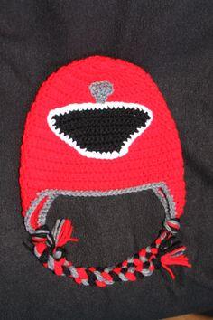 Red power ranger crochet hat  https://www.facebook.com/Madenzy?ref=hl