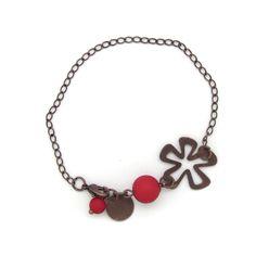 Copper Flower bracelet. Pulsera flor de cobre» Torques Complementos. Venta online de complementos de moda