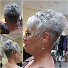 Today we have the most stylish 86 Cute Short Pixie Haircuts. We claim that you have never seen such elegant and eye-catching short hairstyles before. Pixie haircut, of course, offers a lot of options for the hair of the ladies'… Continue Reading → Short Grey Hair, Short Hair Cuts, Short Hair Styles, Black Hair, Stacked Hairstyles, Hairstyles Haircuts, Very Short Haircuts, Short Hairstyles For Women, Haircut For Thick Hair