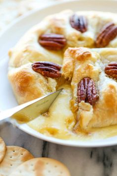 Pumpkin Pecan Baked Brie for your holiday party