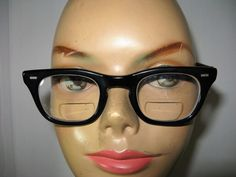 Vintage Black Horn Rimmed Eyeglass Frames by TheInstantMemory