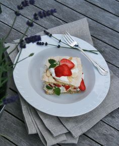 Rhubarb Strawberry Meringue Brita Cake Dessert