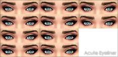 Mod The Sims: Acute Eyeliner 10 styles by Vampire_aninyosaloh • Sims 4 Downloads
