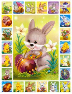 Easter Quiz, Easter Illustration, Coloring Easter Eggs, Easter Printables, Vintage Greeting Cards, Disney Wallpaper, Cool Artwork, Happy Easter, Christmas Holidays