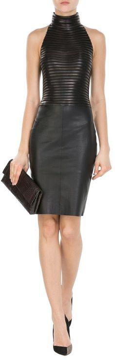 Luxurious Leather Dress sexy black dress